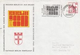 B PU 67/5 Jubiläumsausstellung Der Jungen Breifmarken Freunde Berlin E.V. 20. Jähriges Bestehen 1960-1980, Lüdenscheidt - Sobres Privados - Usados