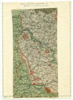 Carte Géographique Guerre 1914 Étapes Allemandes France Nord Belgique. - Documents Historiques