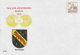 B PU 68/13**  Tag Der Briefmarke Berlin 1978 - Renickendorf - Berlin (West)
