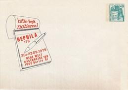 B PU 70/8**  Bitte Fest Notieren!  BEPHILA'79 - 20-. 23.9.1979  Neue Welt Hasenheide 108 1000 Berlin 61 - Berlin (West)