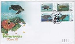 2010 INDONESIA TURTLE WWF FDC MARINE LIFE FAUNNA, - FDC