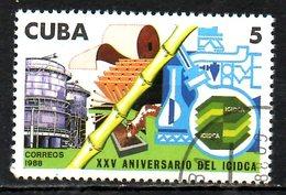 CUBA. N°2855 Oblitéré De 1988. Canne à Sucre. - Agriculture