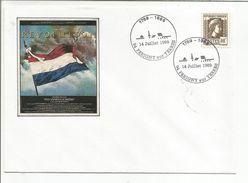 OBLITERATION BICENTENAIRE REVOLUTION à PERIGNY SUR YERRES VAL DE MARNE 1989 - Commemorative Postmarks