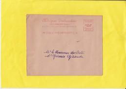 20   EMA   Sur Lettre  De FRANCE Sauf  PARIS     Annees 1956  1957 Et 1958 - Marcophilie (Lettres)