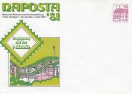 B PU 75/11**  NAPOSTA'81 Nationale Postwertzeichenausstellung 7000 Stuttgart 28.April Bis 3.Mai 1981 - Berlin (West)