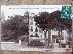 CPA SAINT CLOUD Quai PRESIDENT CARNOT Rendez Vous Des Pêcheurs Tramway HOTEL 92 Hauts De Seine - Saint Cloud