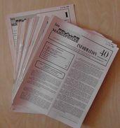 """LES FEUILLES MARCOPHILES : LOT De 40 NUMEROS """" INFORMATION / SUPPLEMENT """" N° 1 à 40 (1974 - 1983) - Philately And Postal History"""