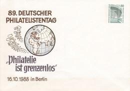 "B PU 139/5**  89. Philatelistentag -""Philatelie Ist Grenzenlos"" 16.1o.1988 In Berlin - Berlin (West)"