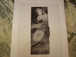 ANCIENNE PUBLICITE MONTRE ULYSSE NARDIN - Bijoux & Horlogerie