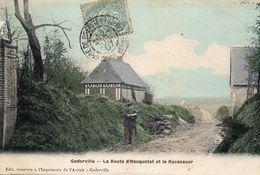 76 Goderville. La Route D'Houquetot Et Le Recenseur - Goderville