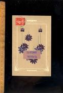 Cpa Meilleurs Souhaits De Fête / Art Nouveau  1912 - Holidays & Celebrations