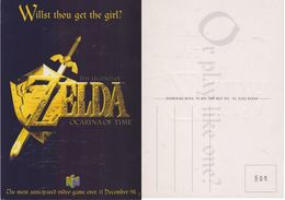 Cartolina - The Legend Of Zelda. Ocarina Of Time. Uscita Videogioco - Events