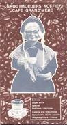 Kaart Belgie - Pub Reclame Grootmoeders Koffie - Wevelgem - Gullegem - Cartes Routières