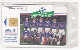 Telecarte GN 505 CANDIA EQUIPE DE FRANCE 1998 France Espagne Sous Blister - 5 Units