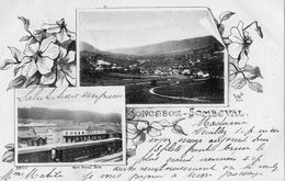 SONCEBOZ-SOMBEVAL DOUBLE VUE GARE ET VUE GENERALE (CARTE PRECURSEUR) - JU Jura