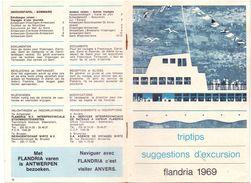 Toerisme Excursie Excursion Havenrondvaart Antwerpen - Flandria Boten 1969 - Reiseprospekte