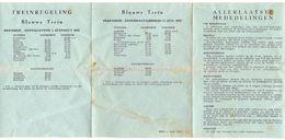 Toerisme Dienstregeling Treinen - Blauwe Trein Lourdes - Poperinge 1962 - Europe