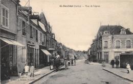 36 - INDRE / 36249 - St Gaultier - Rue De Lignac - Beau Cliché Animé - France