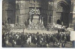 CPA Photographie Animée Rouen Cathédrale Photographe Rue Grand Pont Photo Jour De Cérémonie Armistice 1914 1918 - Rouen