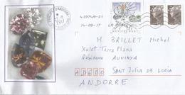 Les Métiers Art, Diamants,  Adressée ANDORRA, Avec Timbre à Date Arrivée - Minéraux