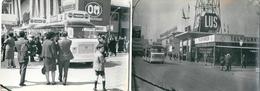 MILAN ITALIE Lot De 2 Photos Foire Internationale De 1967 Autobus - Lugares