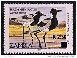 Zm1126 ZAMBIA 2014, K2.50 On 'A' Bird Blacksmith Plover  MNH (Issued 02-05-2014) - Zambia (1965-...)