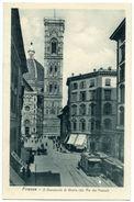 ITALIE : FIRENZE - IL CAMPANILE DI GIOTTO (DA VIA DEI PECORI) - Firenze (Florence)