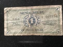 Belgium 1 Franc 1946 - [ 4] Occupazione Belga Della Germania