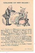 """MILITARIA (14-18) BELLE ET RARE  CPA """"GUILLAUME EST BIEN MALADE"""" (JEUX DE MOTS AVEC HUMOUR) - Oorlog 1914-18"""