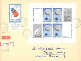 Romania  Rumänien   Michel #  Block 69  Auf Portogerechte Expres Brief - Europa