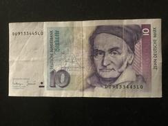 GERMANY 10 MARK 1993 - [ 7] 1949-… : FRG - Fed. Rep. Of Germany