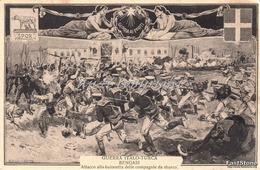 GUERRA ITALO-TURCA_BENGASI_Attacco Alla Baionetta Delle Compagnie Da Sbarco_Originale 100% - Altre Guerre