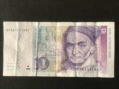 Germany 10 Mark 1991 DD - [ 7] 1949-… : FRG - Fed. Rep. Of Germany