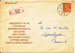 Denmark Registered Cover Aalborg 26-6-1961 Single Franked - Covers & Documents