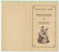 """1929 - Neuf Programmes De Concert Suite à Un Voyage En Extrème Orient Sur Le """"Lotus"""" Des Messageries Maritimes - Documenti Storici"""