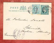 P 30 + ZF Koenig Eduard, Brighton Nach Schmoelln, AK-Stempel 1904 (40798) - 1902-1951 (Kings)
