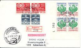 Denmark Registered Cover Bogense 20-6-1980 Special Postmark And Good Stamps - Denmark