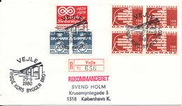 Denmark Registered Cover Vejle 29-6-1980 Special Postmark And Good Stamps - Denmark