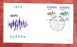 FDC, Europa Cept, Erstausgabestempel 1972 (40802) - 1971-80