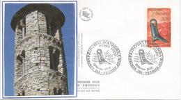 ANDORRA. Pied Ex-voto Religieux (offrande), église Romane Sant Miquel .  Lettre FDC - Cristianesimo