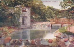 Illinois Joliet Rustic Bridge And Spring House In West Park - Joliet