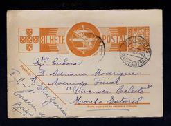 """LINHA DE SINTRA II"" Pmk Portugal 1942 AMBULANCIAS Auto-ambulance Postal Stationery Gc2883 - Colis Postaux"