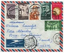Egypte // UAR //  Lettre Pour La Suisse Par Avion - Égypte