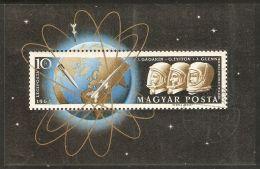 Hungary 1962 Mi# Block 33 A Used - Gagarin, Titov & Glenn / Space - Space