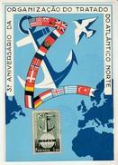 Maximum Card * 3º Aniversario Da Organização Do Tratado Do Atlântico Norte * 1952 - Cartes-maximum (CM)