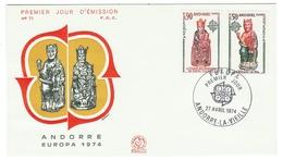 Andorre // FDC // Europa 1974 - FDC