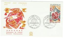 Andorre // FDC // 100 Ans De L'UPU - FDC