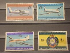 BRITISH VERGIN - 1968 AEREI  4 VALORI - NUOVI(++) - British Virgin Islands