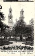 BRUXELLES (1040) : L'Eglise Saint-Joseph, Square Frère-Orban. Petite Animation. CPA Précurseurs Peu Courante. - Etterbeek