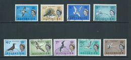 Ascension 1963 Bird Definitives Short Set Of 9 To 1 Shilling Tropic Bird FU - Ascension